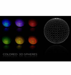 Colored spheres vector