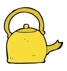 comic cartoon old kettle vector image