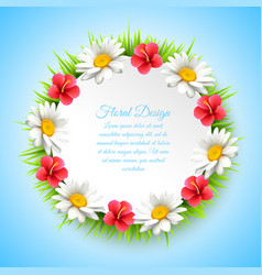 daisy realistic multicolored composition vector image