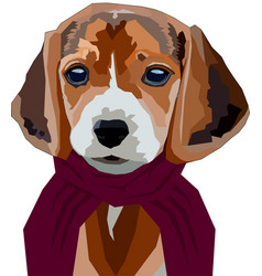 Dog in scarf vector