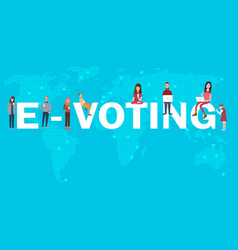 E-voting online poll electronic election internet vector
