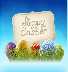 easter background with and sign vector image