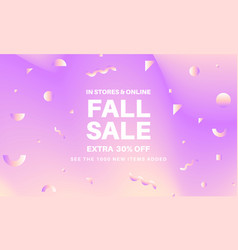 fall abstract sale banner vector image
