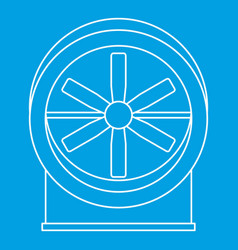Fan with twist mechanism icon outline style vector