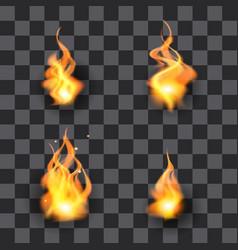 fire design element set flame vector image