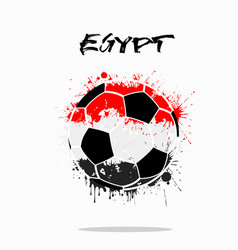 Flag of egypt as an abstract soccer ball vector