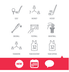 Football ice hockey and baseball icons vector