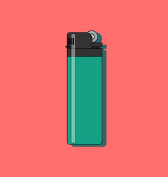 gas lighter flat icon with long shadow isolated on vector image