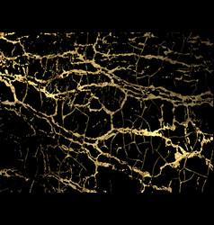 Gold marbling texture design for poster brochure vector