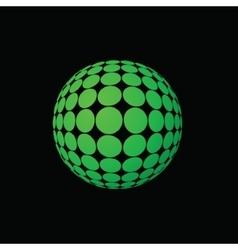 Green ball vector