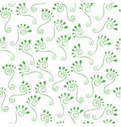 green footprints vector image