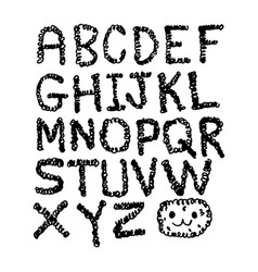 hand draw font vector image