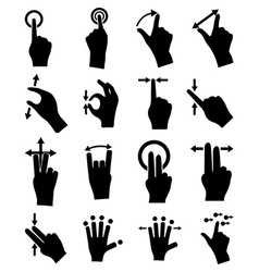 Hand gestures icons set vector image