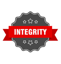Integrity red label integrity isolated seal vector