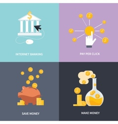 Internet banking make money save money vector image
