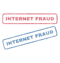 internet fraud textile stamps vector image