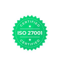 Iso 27001 badge vector