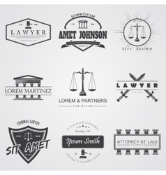 Lawyer services law office the judge vector