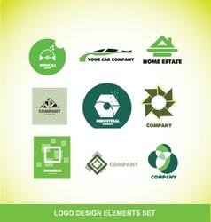 Logo element design company set vector