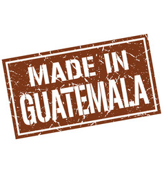 made in guatemala stamp vector image