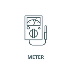 meter line icon linear concept outline vector image