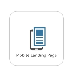 Mobile Landing Page Icon Flat Design vector