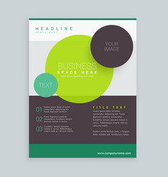 Modern circles business brochure flyer design in vector