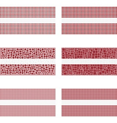 Mosaic Latvia flag set vector