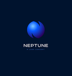 N planet emblem and neptune logo vector