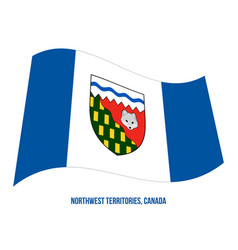 Northwest territories flag waving on white vector