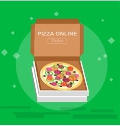 Online pizza order vector