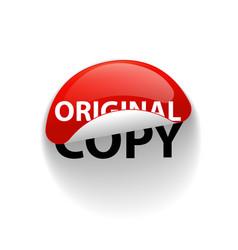 Original or copy creative sticker label slogan vector