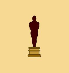 Oscar academy award icon in flat style vector