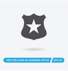police shield icon simple car sign vector image