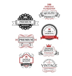 Premium quality label collection vector image