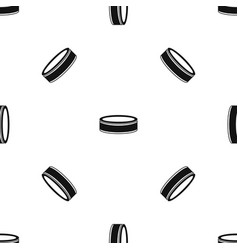 Puck pattern seamless black vector