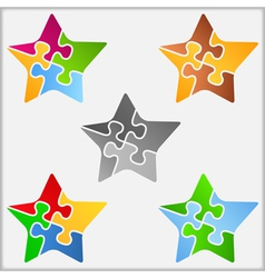Puzzle Star vector