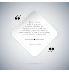 Quote on White Paper Sheet Template vector