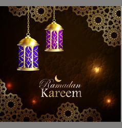 ramadan kareem greeting background eps 10 vector image