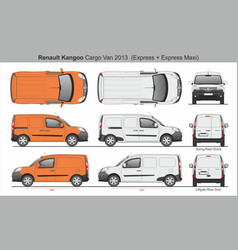 Renault kangoo cargo van 2013 express and maxi vector