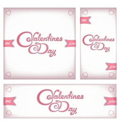 Retro banners and flyers for Valentines day vector