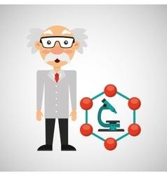 scientist chemistry concept microscope graphic vector image