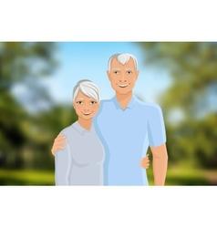 Senior couple outdoor vector
