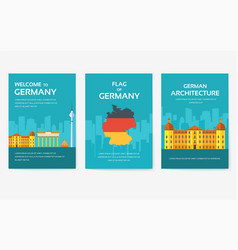 set of germany country ornament travel tour vector image