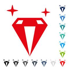 Sparkle diamond crystal icon vector