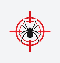 Spider icon red target vector