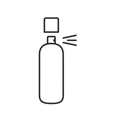 Spray antiperspirant linear icon vector