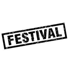 square grunge black festival stamp vector image