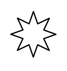 Star eight pointed line style icon vector