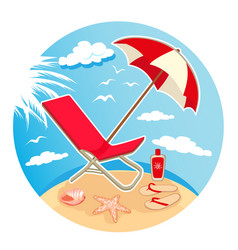 Summer time design 1 vector